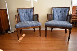 Set of blue antique arm chairs for Sale in Berkeley, CA