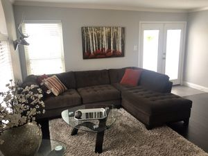 Microfiber Couch Sectional for Sale in Dallas, TX