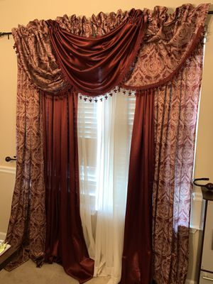 Curtain Set and Wall Decor for Sale in McDonough, GA