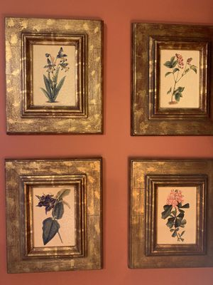 Orchid Bloom Framed Art Set (4) for Sale in South Miami, FL
