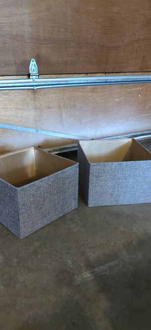 Very nice square grey linen lamp shades for Sale in East Wenatchee, WA