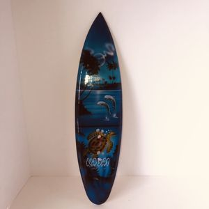 "Unique Kauai dolphin sea turtle surfboard wall hanging decoration 19""x5"" for Sale in Saint Albans, WV"