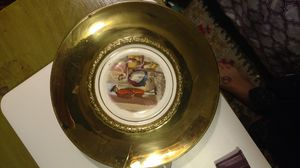 Antique bone china and brass plates for Sale in Austin, TX