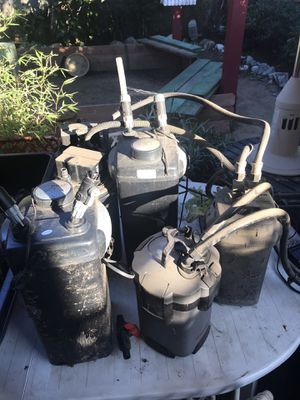 6 Aquarium canister filters for Sale in Los Angeles, CA