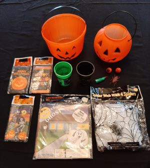 Halloween Buckets, Cups, Baggies and More! for Sale in Bolingbrook, IL