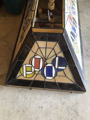 Stain Glass Pool Table Light for Sale in Seattle, WA
