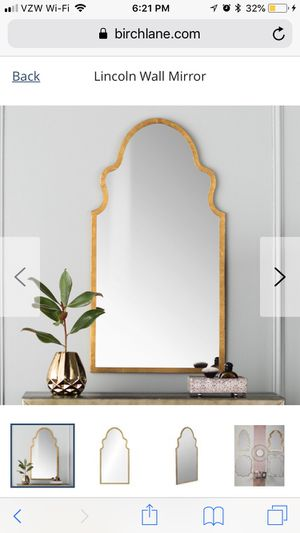 Gold Arch Wall Mirrors (set of 2) for Sale in Chapel Hill, NC