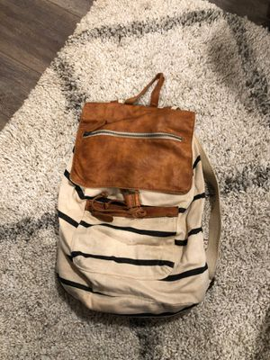 Striped Brandy Melville Backpack Genuine Leather for Sale in Azusa, CA