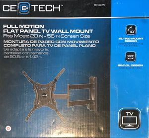 CE Tech TV Wall Mount - full motion for Sale in Brooklyn, NY