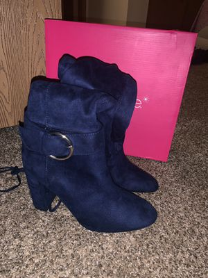 Thigh high boots navy blue (new) for Sale in Whitehall, OH