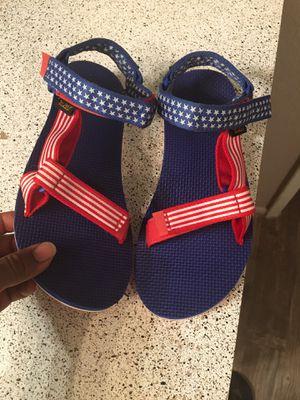 American flag TEVA women's sandals size 8 for Sale in Phoenix, AZ