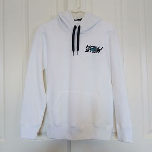 New Mens Hollister White Icon Hoodie Sweatshirt Xsmall for Sale in Salinas, CA