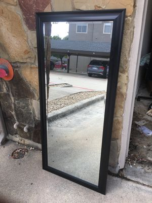 Naomi Floor Mirror - Black 65x32 for Sale in Irving, TX