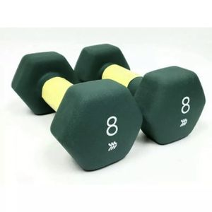 All In Motion Pair Of 8lb Neoprene Dumbbell Green (16lb) NEW Fitness Gym Weight for Sale in Monterey Park, CA