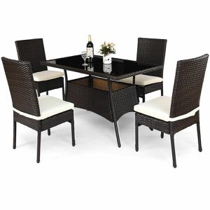 5 Piece Outdoor Patio Furniture Rattan Dining Set Home Decor for Sale in Los Angeles, CA
