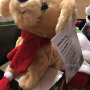 "12"" Christmas Plush Animated Brown Dog for Sale in Houston, TX"