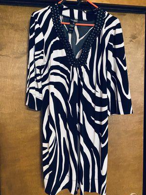Bisou Bisou Zebra Print Dress Size 14 for Sale in Tacoma, WA