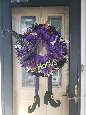 Handmade Halloween Witch Wreath for Sale in Westville, NJ