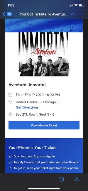 Aventura : Inmortal (2 tickets) for Sale in Chicago, IL