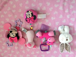 Baby girl Disney Minnie Mouse stroller toy lot for Sale in Queens, NY