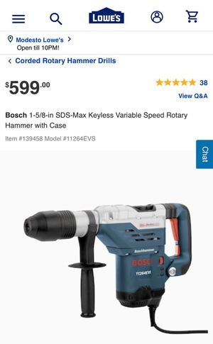 Rotary hammer for Sale in Modesto, CA