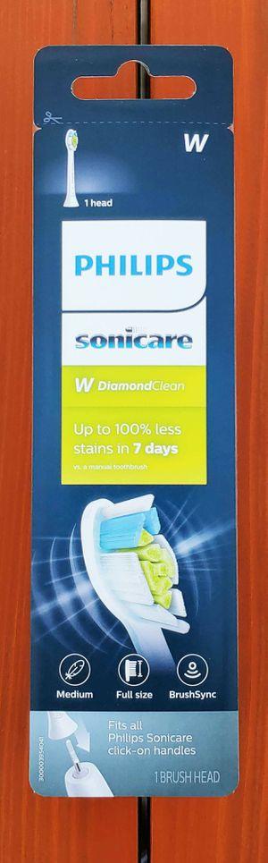 BRAND NEW Genuine Philips Sonicare W DiamondClean Replacement Brush Head HX6061/32 | 1 Pack Brush head | Medium | Full Size | BrushSync for Sale in Rancho Cucamonga, CA
