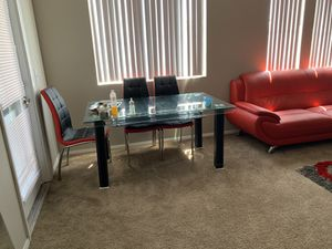 6 Chair Dining Room Set, living room set, 2 Bar Stools for Sale in North Las Vegas, NV
