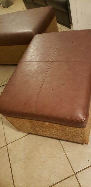 Furniture. Dresser n mirror set end table n foot stool. for Sale in Fort Myers, FL