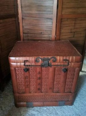 Bamboo Steamer Trunk Antique for Sale in San Diego, CA