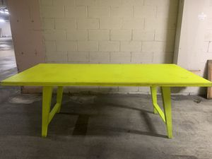 Neon yellow kitchen table for Sale in Los Angeles, CA