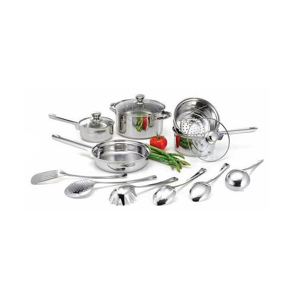 Brand new 14-Pc. Stainless Steel Cookware Set, Never opened