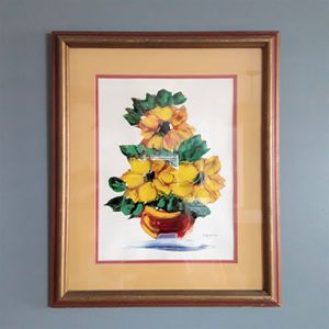 Still Life Gouache Watercolor painting by Dallaglio for Sale in Homestead, FL