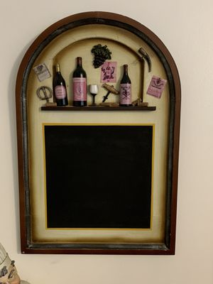 Wood Chalkboard Wine Decor Wall Hanging for Sale in Stockbridge, GA