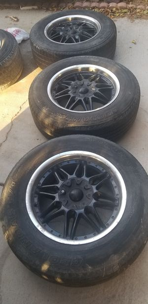 """18""""Black and chrome universal rims for Sale in Las Vegas, NV"""
