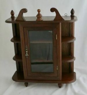 Vintage Wooden Curio Cainet for Sale in Tucker, GA