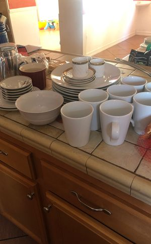 Plates,cups,wine glasses for Sale in Riverside, CA