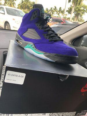 Jordan 5 Alternate Grape Size 12 with receipt for Sale in North Miami, FL
