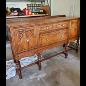 Antique Buffet And Dining Room Table With Chairs for Sale in Baytown, TX