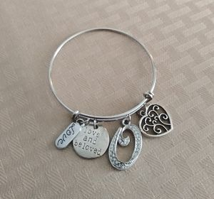 """Silver Bangle & Crystal """"O"""" Charm for Sale in Baltimore, MD"""