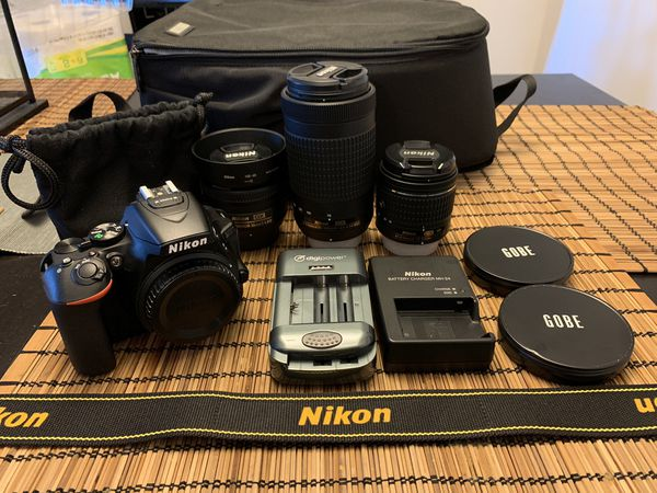 Nikon D5600 w/ Lenses and Accessories