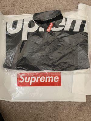 Supreme Side Logo Track Jacket Black Medium for Sale in Jurupa Valley, CA