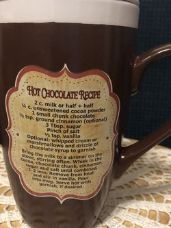 Hot Chocolate Mug w/lid for Sale in Sanger,  CA