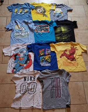 Boys character t-shirts lot 4-6yrs for Sale in Westminster, CA