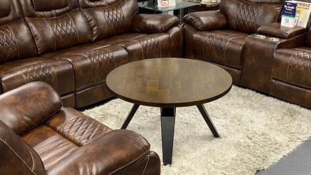 Brand New Brown Leather Manual Reclining Sofa Set $39 Down No Credit Needed Financing for Sale in Dallas,  TX