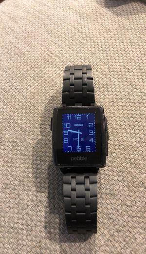 Pebble Steel Smartwatch Black Matte for Sale in Seattle, WA
