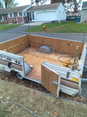 Pop up camper turned trailer for Sale in Chicopee, MA