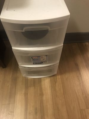 Storage bins with 3 plastic drawers for Sale in Dallas, TX