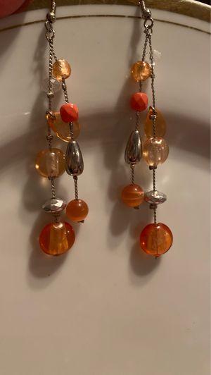Orange and Silver Dangle Earrings for Sale in Carrollton, TX