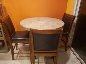 Round Marble Top Table & Chairs(4) for Sale in Auburn, WA