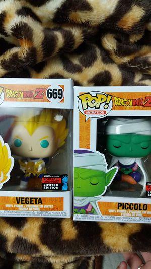 Piccolo and Vegeta funko pops for Sale in San Diego, CA